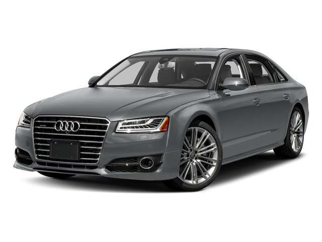 Monsoon Gray Metallic 2017 Audi A8 L Pictures A8 L 4.0 TFSI Sport photos front view