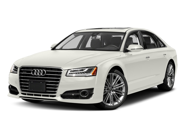 Ibis White 2017 Audi A8 L Pictures A8 L 4.0 TFSI Sport photos front view