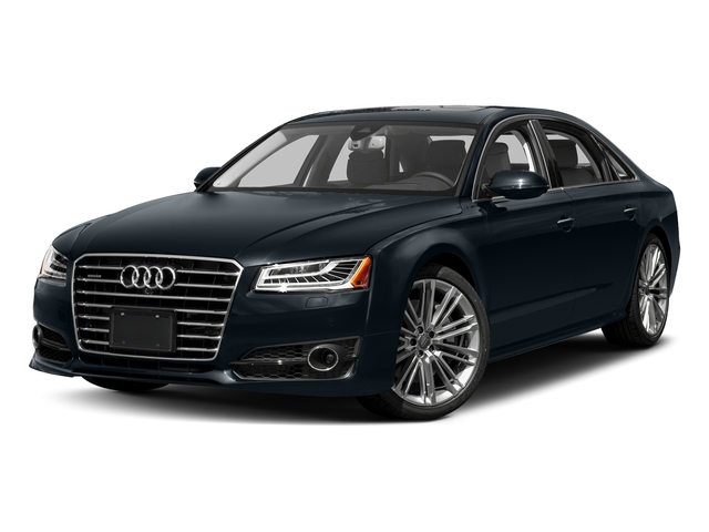 Moonlight Blue Metallic 2017 Audi A8 L Pictures A8 L 4.0 TFSI Sport photos front view