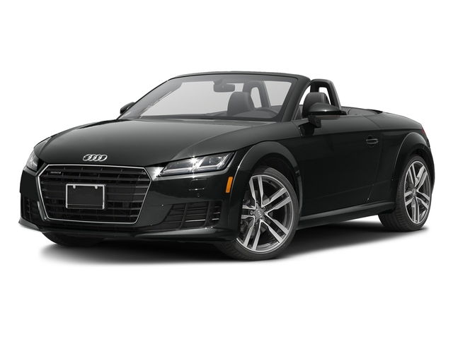 Mythos Black Metallic/Black Roof 2017 Audi TT Roadster Pictures TT Roadster 2.0 TFSI photos front view