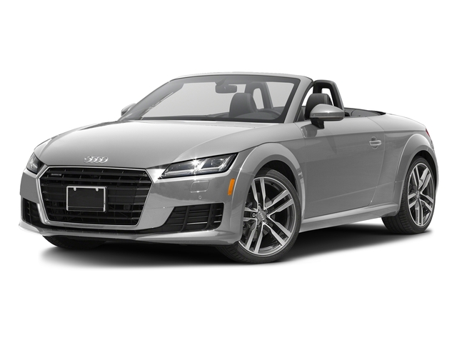 Glacier White Metallic/Black Roof 2017 Audi TT Roadster Pictures TT Roadster 2.0 TFSI photos front view