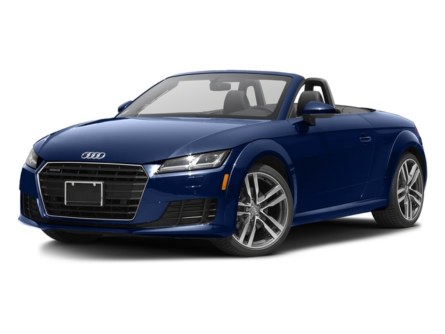 Scuba Blue Metallic/Black Roof 2017 Audi TT Roadster Pictures TT Roadster 2.0 TFSI photos front view