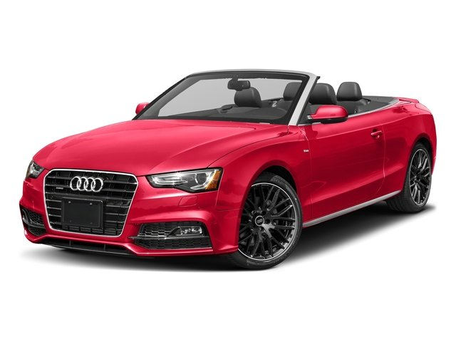 Misano Red Pearl Effect/Black Roof 2017 Audi A5 Cabriolet Pictures A5 Cabriolet Convertible 2D Sport AWD photos front view