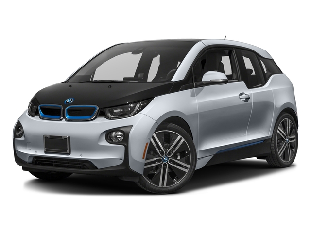 Ionic Silver Metallic w/BMW i Frozen Blue Accent 2017 BMW i3 Pictures i3 Hatchback 4D 94 AH w/Range Extender photos front view