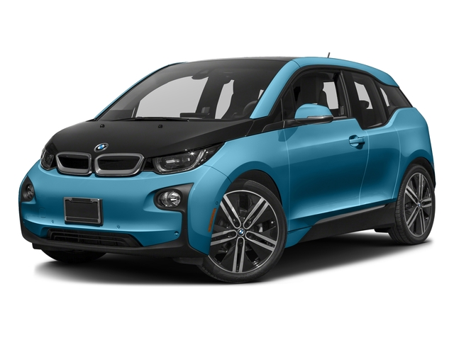 Protonic Blue Metallic w/Frozen Gray Accent 2017 BMW i3 Pictures i3 Hatchback 4D 94 AH w/Range Extender photos front view