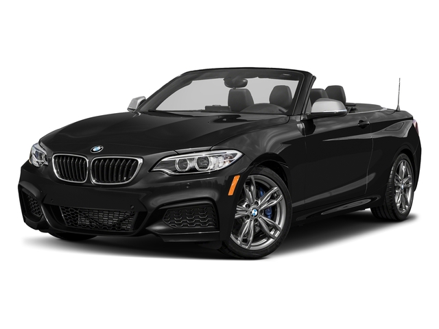 Black Sapphire Metallic 2017 BMW 2 Series Pictures 2 Series Convertible 2D M240i I6 Turbo photos front view