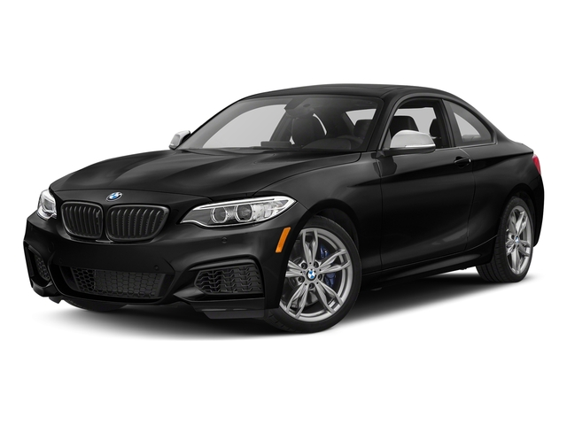 Black Sapphire Metallic 2017 BMW 2 Series Pictures 2 Series Coupe 2D M240i I6 Turbo photos front view