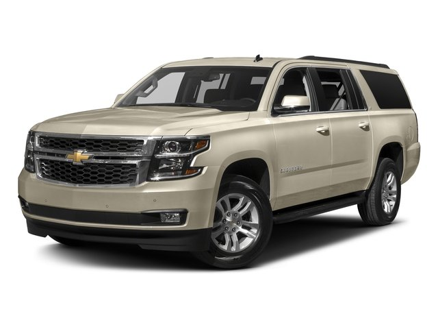 Champagne Silver Metallic 2017 Chevrolet Suburban Pictures Suburban 2WD 4dr 1500 LT photos front view