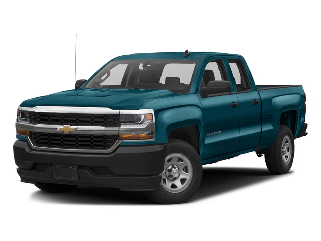 Deep Ocean Blue Metallic 2017 Chevrolet Silverado 1500 Pictures Silverado 1500 2WD Double Cab 143.5 Work Truck photos front view