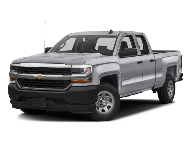 Silver Ice Metallic 2017 Chevrolet Silverado 1500 Pictures Silverado 1500 2WD Double Cab 143.5 Work Truck photos front view