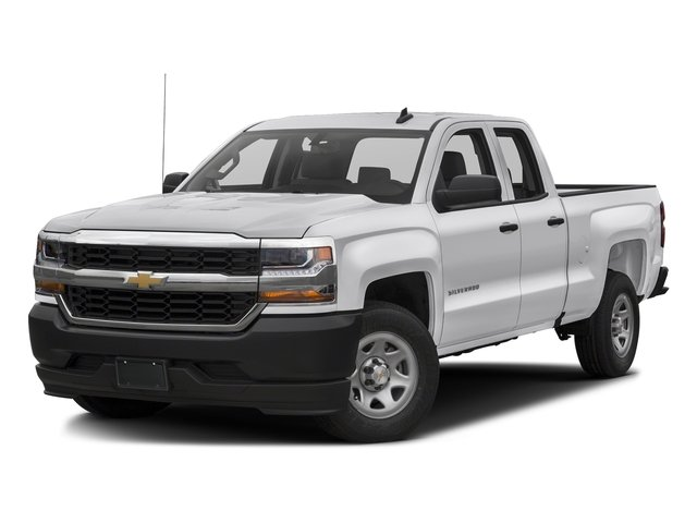 Summit White 2017 Chevrolet Silverado 1500 Pictures Silverado 1500 2WD Double Cab 143.5 Work Truck photos front view
