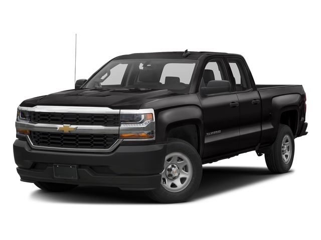 Black 2017 Chevrolet Silverado 1500 Pictures Silverado 1500 2WD Double Cab 143.5 Work Truck photos front view