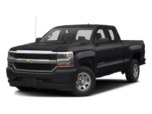Graphite Metallic 2017 Chevrolet Silverado 1500 Pictures Silverado 1500 2WD Double Cab 143.5 Work Truck photos front view