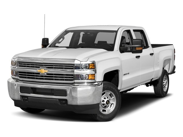 Summit White 2017 Chevrolet Silverado 2500HD Pictures Silverado 2500HD 2WD Crew Cab 153.7 Work Truck photos front view