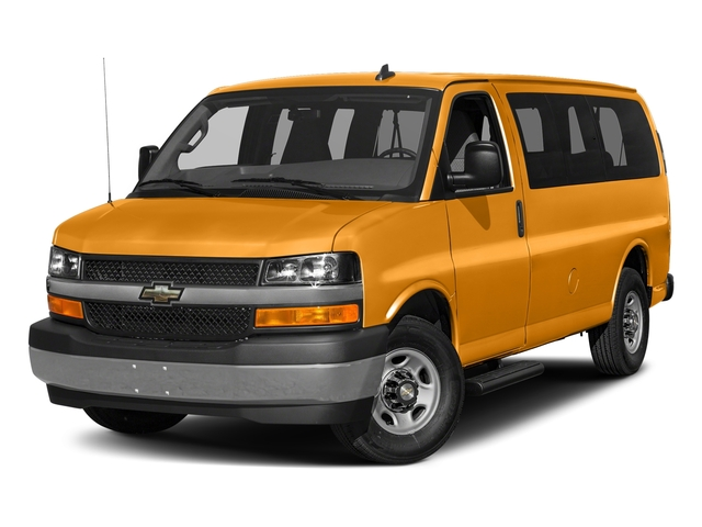 Wheatland Yellow 2017 Chevrolet Express Passenger Pictures Express Passenger RWD 2500 135 LS photos front view