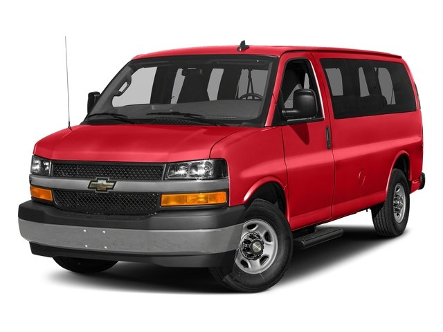 Red Hot 2017 Chevrolet Express Passenger Pictures Express Passenger RWD 2500 135 LS photos front view