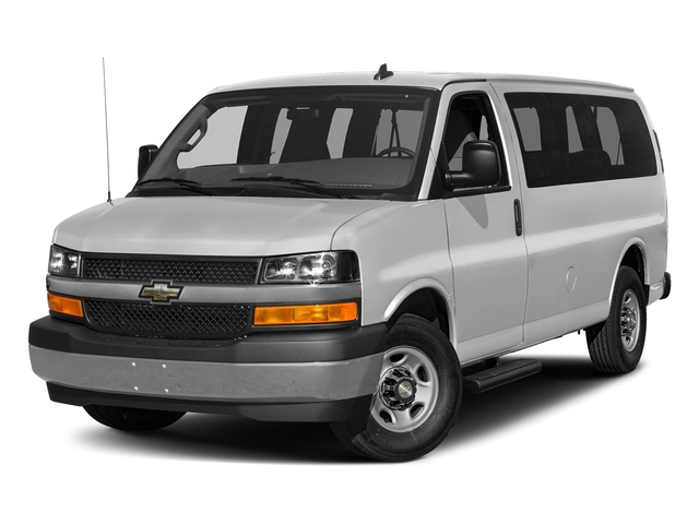 Silver Ice Metallic 2017 Chevrolet Express Passenger Pictures Express Passenger RWD 2500 135 LS photos front view