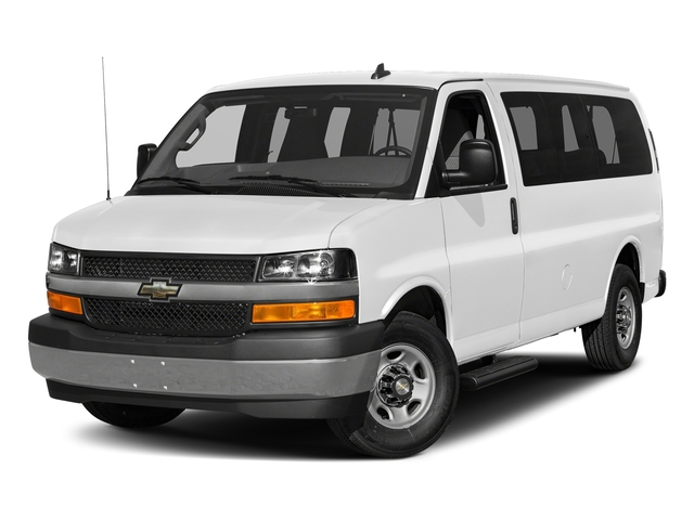 Summit White 2017 Chevrolet Express Passenger Pictures Express Passenger RWD 2500 135 LS photos front view