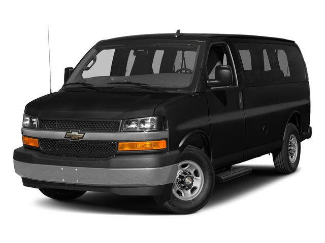 Black 2017 Chevrolet Express Passenger Pictures Express Passenger RWD 2500 135 LS photos front view