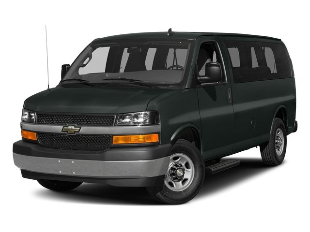 Graphite Metallic 2017 Chevrolet Express Passenger Pictures Express Passenger RWD 2500 135 LS photos front view