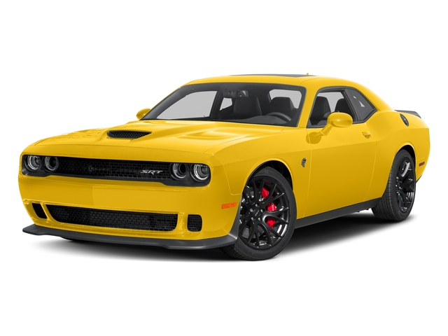 Yellow Jacket Clearcoat 2017 Dodge Challenger Pictures Challenger Coupe 2D SRT Hellcat V8 Supercharged photos front view