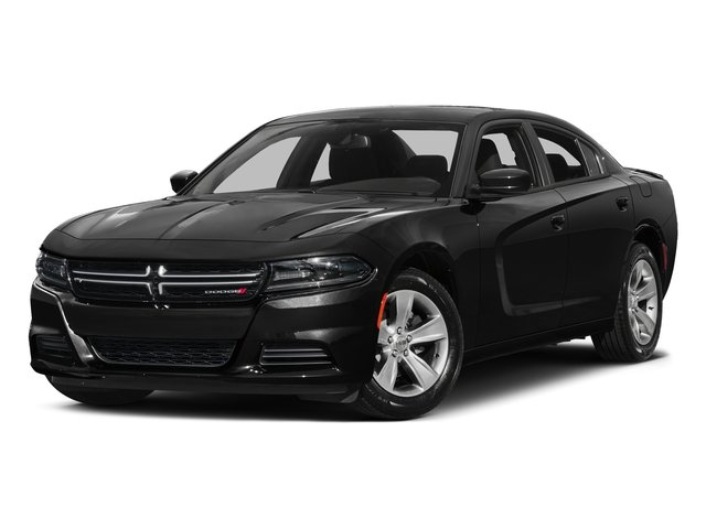 Pitch Black Clearcoat 2017 Dodge Charger Pictures Charger Sedan 4D SE V6 photos front view