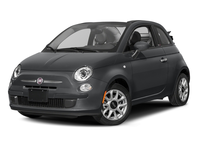 Granito Lucente (Granite Crystal) 2017 FIAT 500c Pictures 500c Lounge Cabrio photos front view