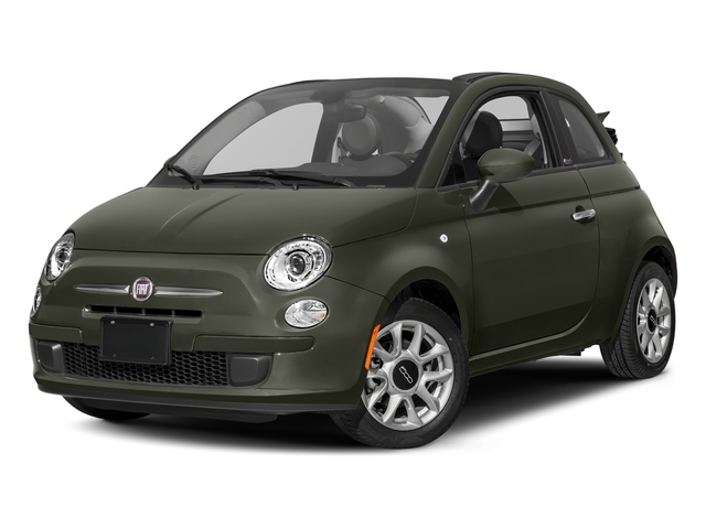 Verde Oliva (Olive Green) 2017 FIAT 500c Pictures 500c Lounge Cabrio photos front view
