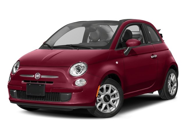 Rosso (Red) 2017 FIAT 500c Pictures 500c Lounge Cabrio photos front view