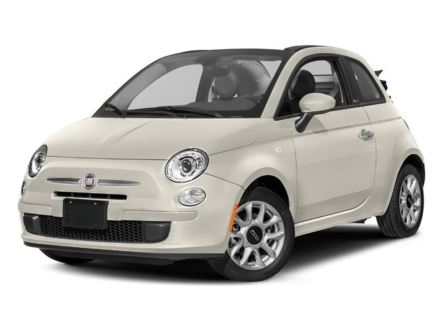 Bianco (White) 2017 FIAT 500c Pictures 500c Lounge Cabrio photos front view