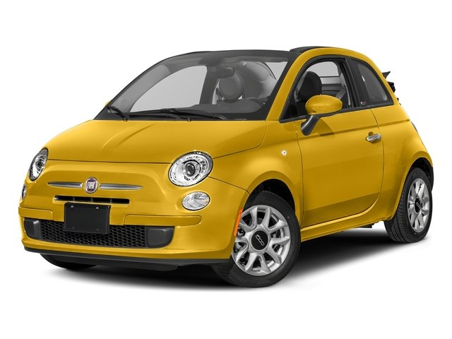 Giallo Moderna Perla (Pearl Yellow Tri-Coat) 2017 FIAT 500c Pictures 500c Lounge Cabrio photos front view