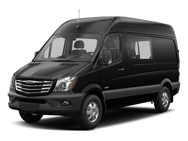 Jet Black 2017 Freightliner Light Duty Sprinter Crew Van Pictures Sprinter Crew Van 2500 High Roof V6 170 4WD photos front view
