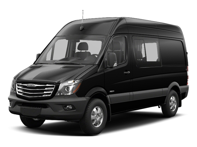 Obsidian Black Metallic 2017 Freightliner Light Duty Sprinter Crew Van Pictures Sprinter Crew Van 2500 High Roof V6 170 4WD photos front view
