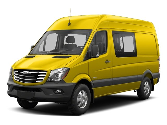 Broom Yellow 2017 Freightliner Light Duty Sprinter Crew Van Pictures Sprinter Crew Van 2500 High Roof V6 170 4WD photos front view