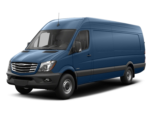 Brilliant Blue Metallic 2017 Freightliner Light Duty Sprinter Cargo Van Pictures Sprinter Cargo Van 3500 High Roof V6 170 Extended RWD photos front view