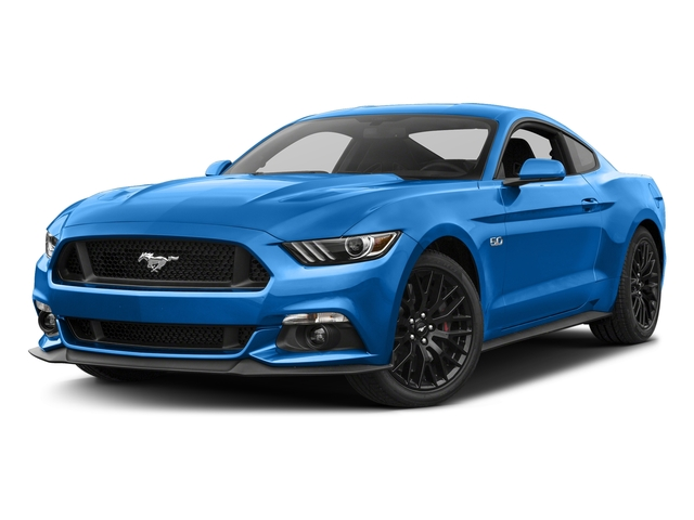 Grabber Blue 2017 Ford Mustang Pictures Mustang Coupe 2D GT V8 photos front view