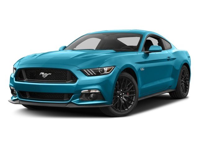 Lightning Blue Metallic 2017 Ford Mustang Pictures Mustang Coupe 2D GT V8 photos front view