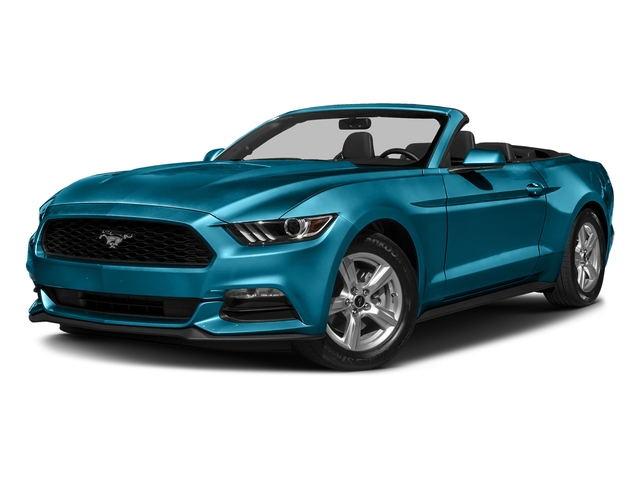 Lightning Blue Metallic 2017 Ford Mustang Pictures Mustang Convertible 2D V6 photos front view