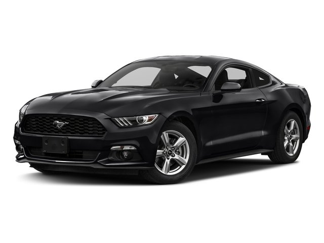 Shadow Black 2017 Ford Mustang Pictures Mustang Coupe 2D EcoBoost I4 Turbo photos front view