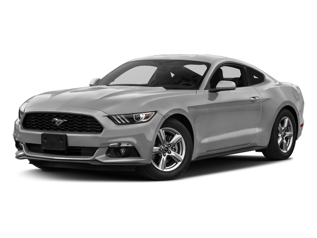 Ingot Silver Metallic 2017 Ford Mustang Pictures Mustang Coupe 2D EcoBoost I4 Turbo photos front view
