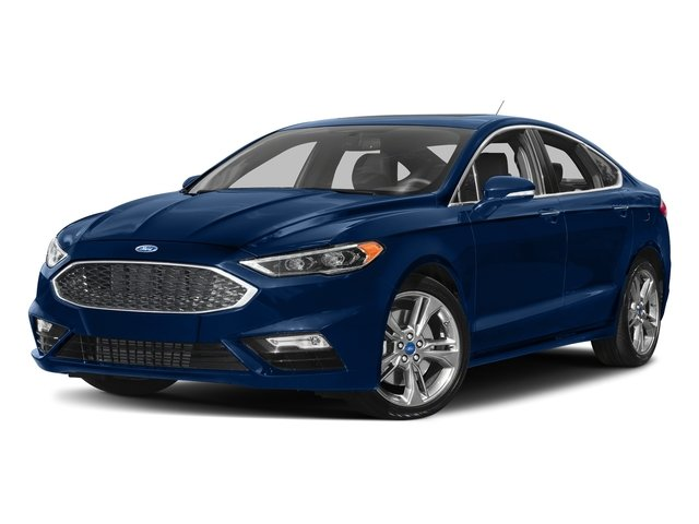 Lightning Blue 2017 Ford Fusion Pictures Fusion Sedan 4D Sport EcoBoost V4 Turbo photos front view