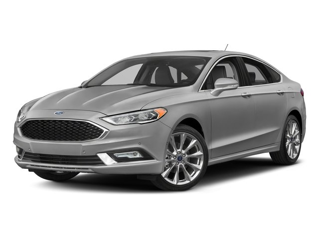 Ingot Silver 2017 Ford Fusion Pictures Fusion Sedan 4D Platinum AWD I4 Turbo photos front view