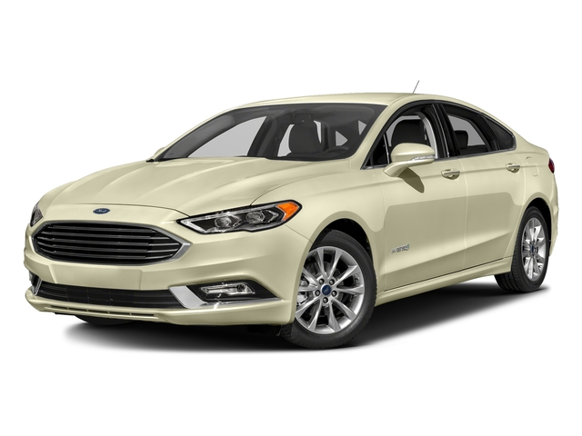 White Gold 2017 Ford Fusion Pictures Fusion Sedan 4D SE I4 Hybrid photos front view