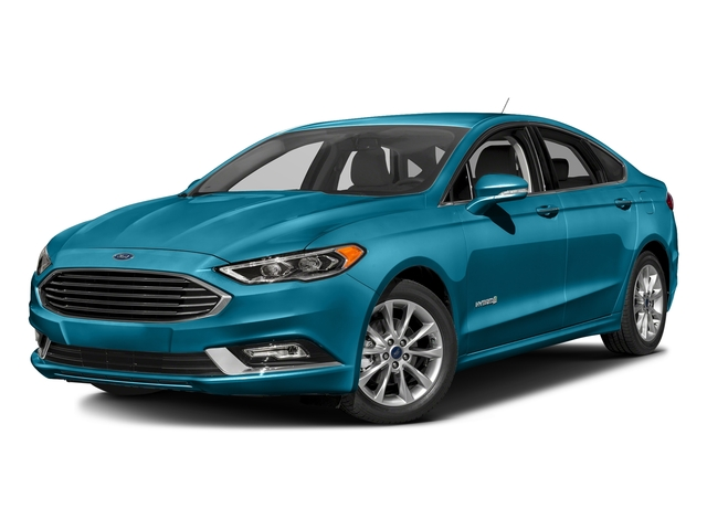 Lightning Blue 2017 Ford Fusion Pictures Fusion Sedan 4D SE I4 Hybrid photos front view