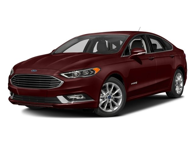 Burgundy Velvet Metallic Tinted Clearcoat 2017 Ford Fusion Pictures Fusion Sedan 4D SE I4 Hybrid photos front view