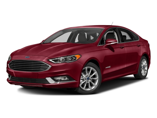 Ruby Red Metallic Tinted Clearcoat 2017 Ford Fusion Pictures Fusion Sedan 4D SE I4 Hybrid photos front view