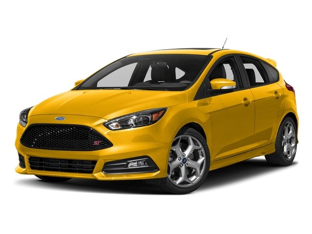 Triple Yellow Metallic Tri-Coat 2017 Ford Focus Pictures Focus Hatchback 5D ST I4 Turbo photos front view