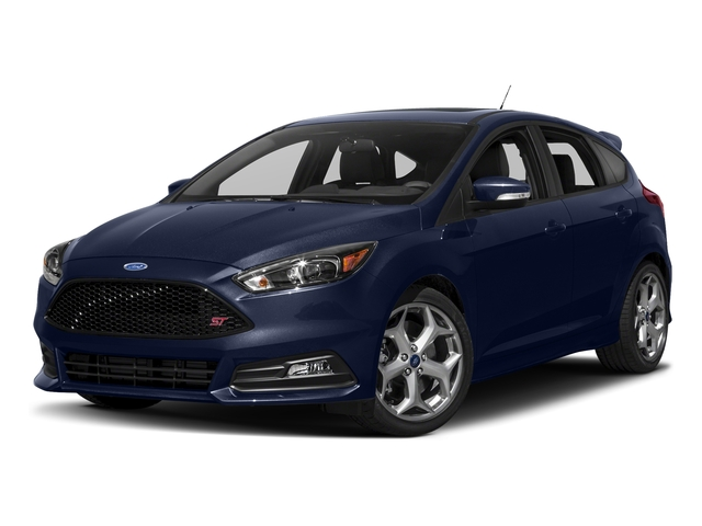 Kona Blue Metallic 2017 Ford Focus Pictures Focus Hatchback 5D ST I4 Turbo photos front view