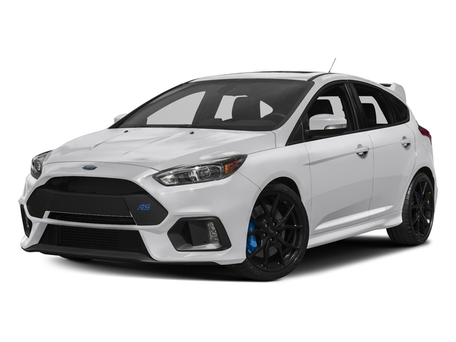 Frozen White 2017 Ford Focus Pictures Focus Hatchback 5D RS AWD I4 Turbo photos front view