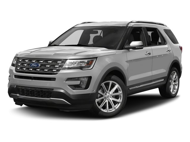 Ingot Silver Metallic 2017 Ford Explorer Pictures Explorer Utility 4D Limited 4WD V6 photos front view